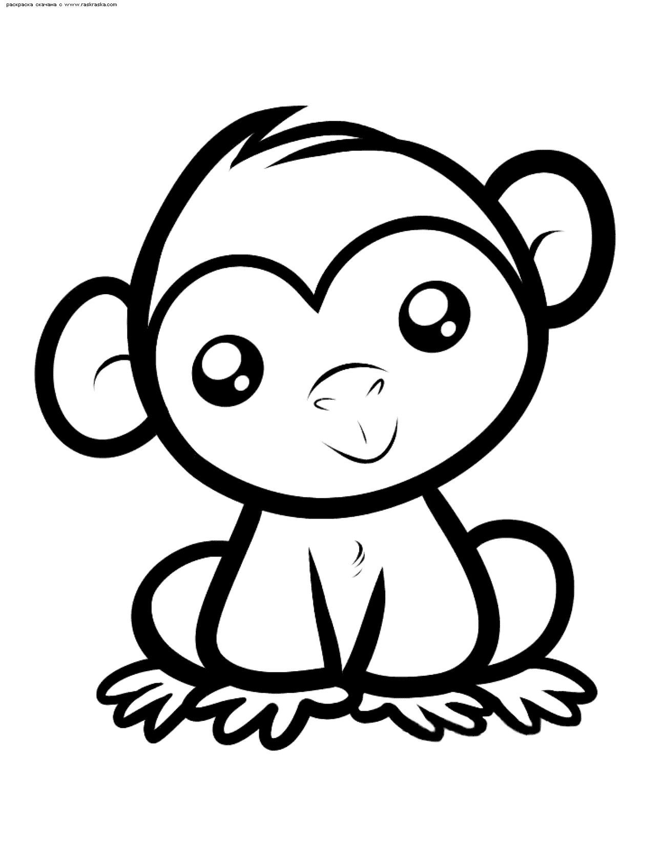 Обезьянки картинки для детей нарисованные014