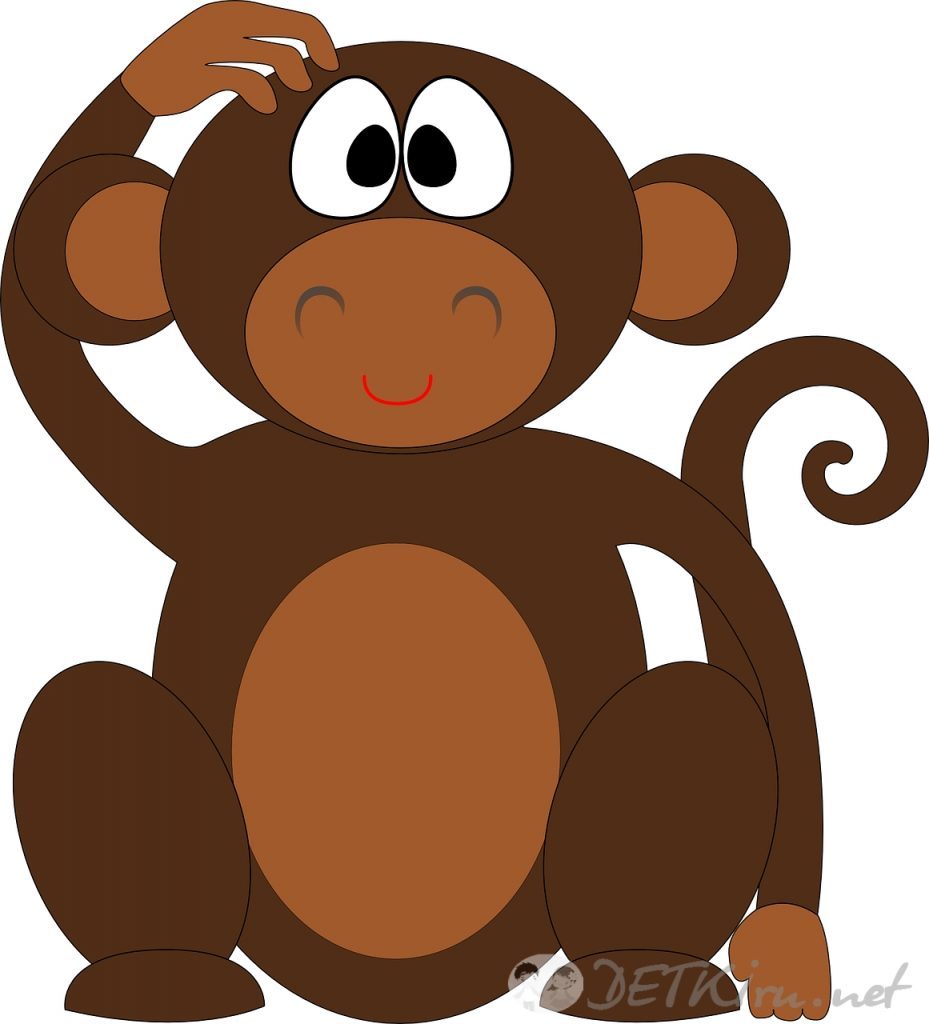 Рисунок обезьянки для детей