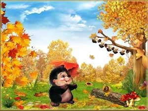 Осенний лес с грибами картинки для детей (16)