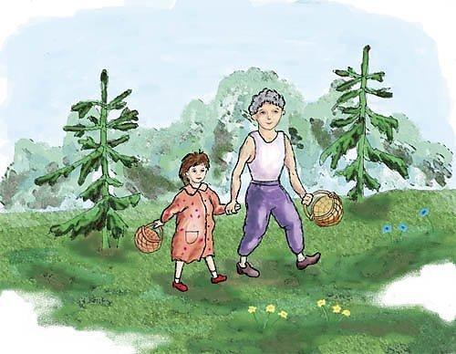Осенний лес с грибами картинки для детей (8)