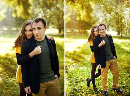 Осенняя семейная фотосессия на природе - фото идеи (4)