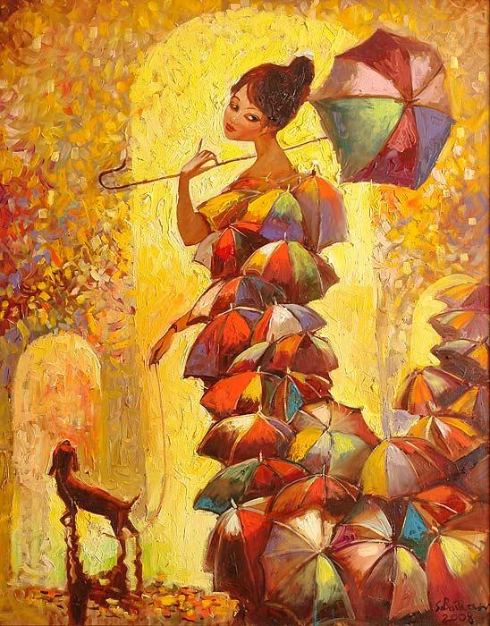 Осень в образе девушки рисунок для детей (11)