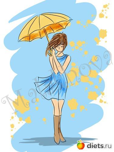 Осень в образе девушки рисунок для детей (15)
