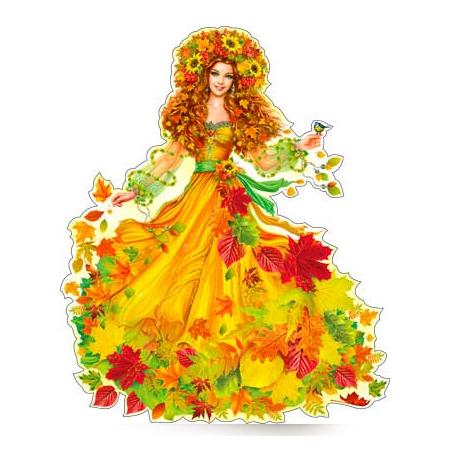 Осень в образе девушки рисунок для детей (24)