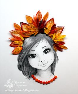 Осень в образе девушки рисунок для детей (5)