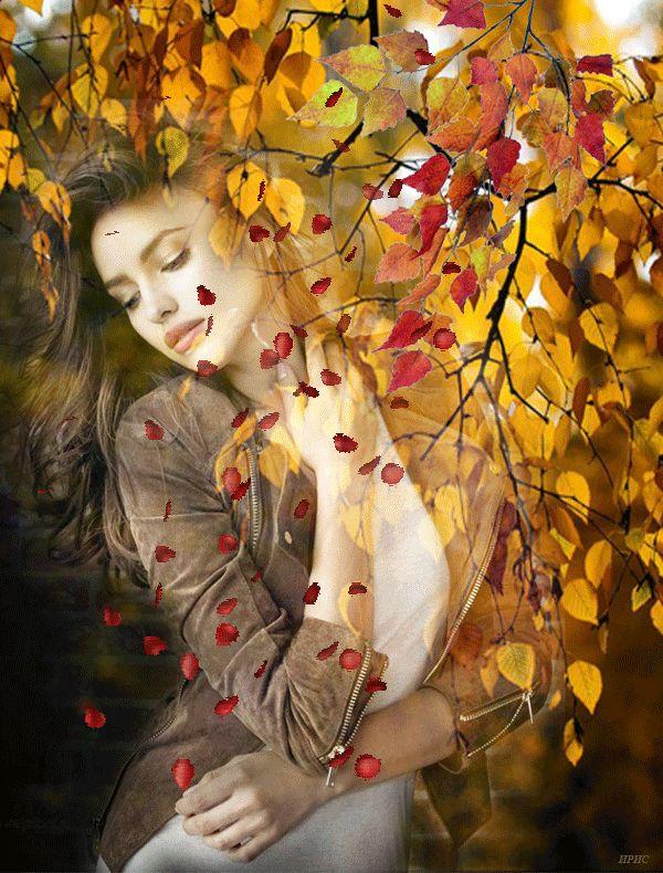 Осень в образе девушки рисунок для детей (9)