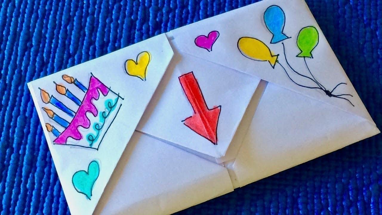 Алиса добрым, открытка на день рождения сестре оригами