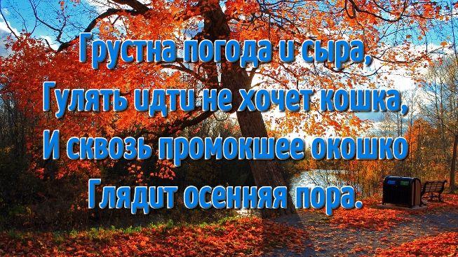 Открытки про осень со стихами для детей (20)