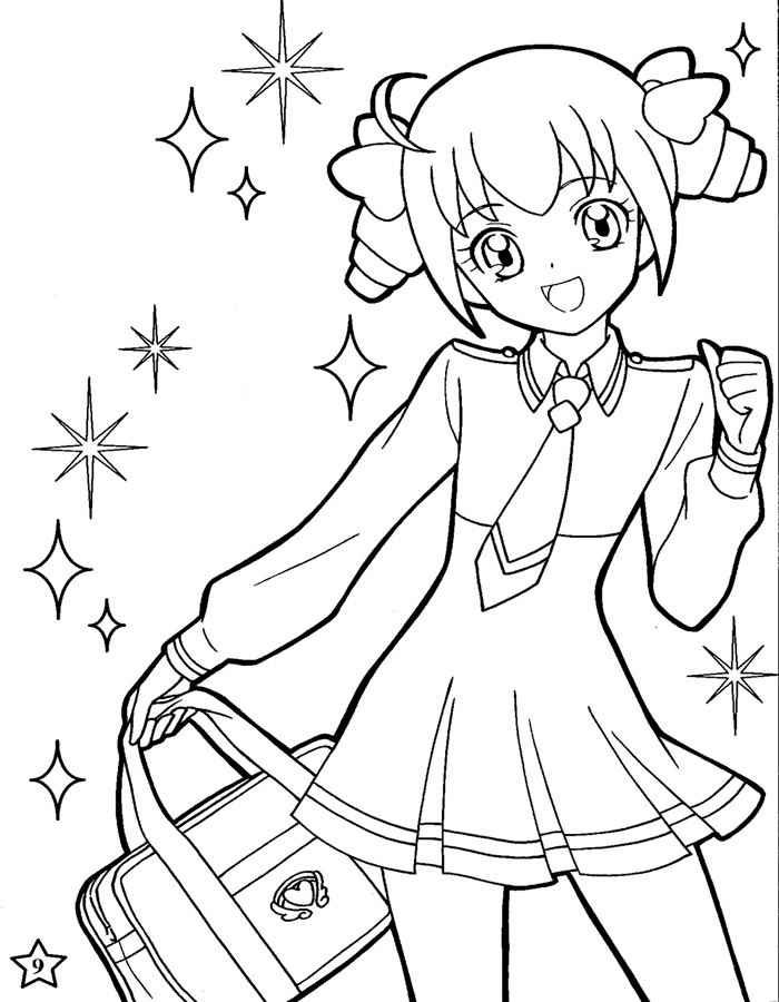 Пара аниме раскраска для детей010