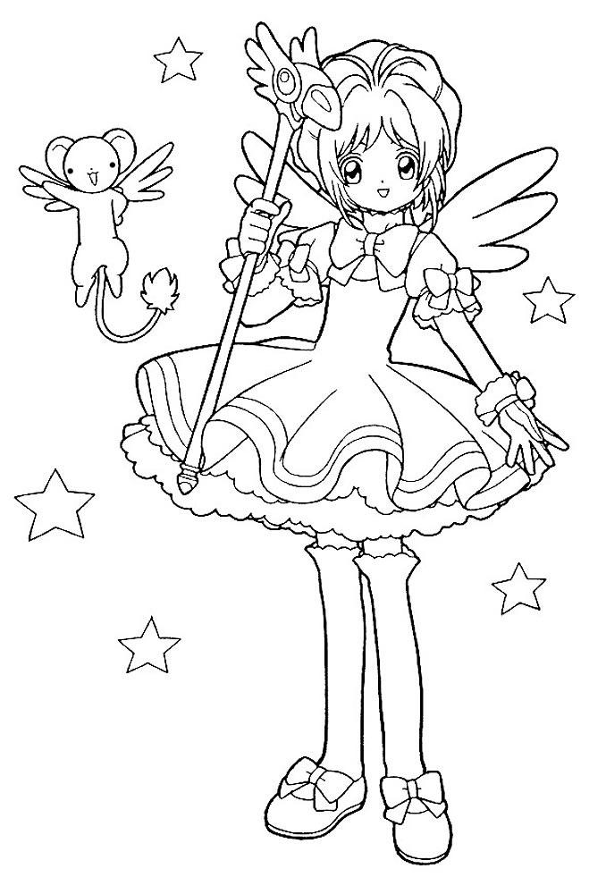 Пара аниме раскраска для детей011