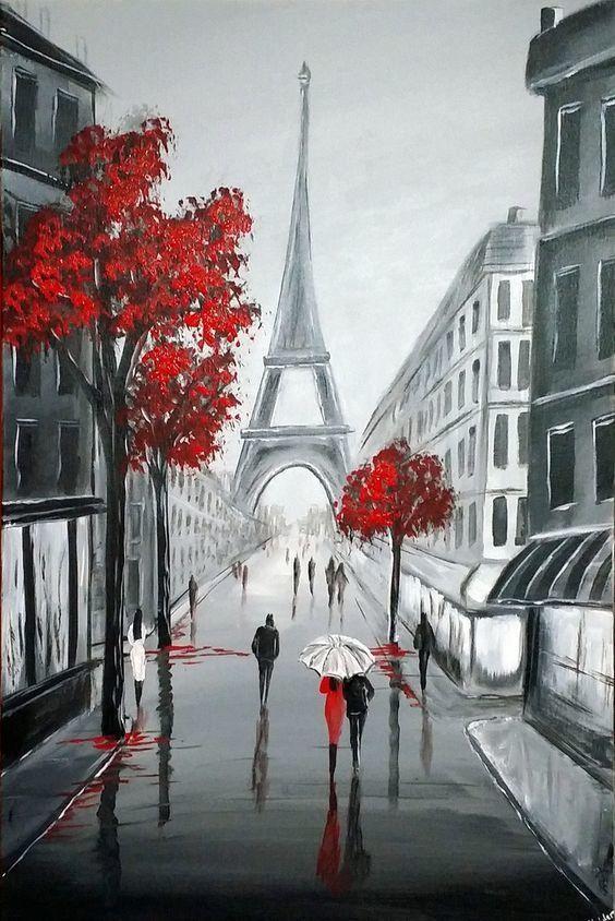 Париж картинки рисованные - 35 рисунков (10)