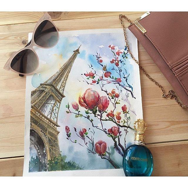 Париж картинки рисованные - 35 рисунков (14)