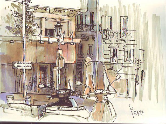 Париж картинки рисованные - 35 рисунков (16)