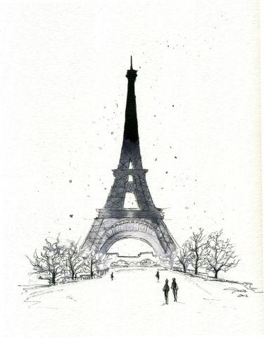 Париж картинки рисованные - 35 рисунков (2)