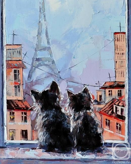 Париж картинки рисованные - 35 рисунков (20)