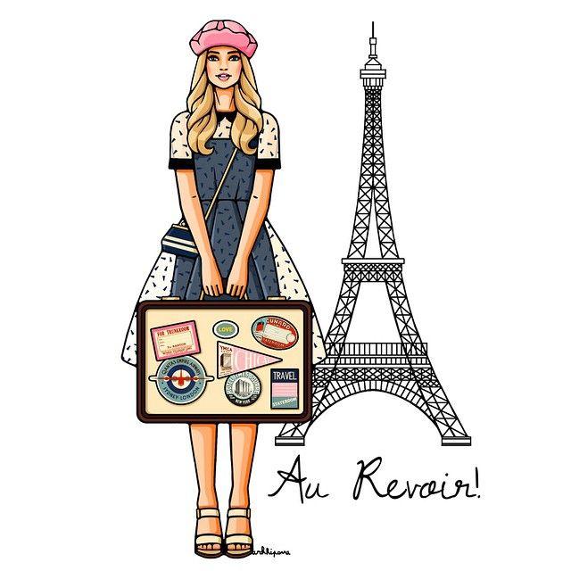 Париж картинки рисованные - 35 рисунков (24)