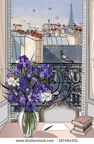 Париж картинки рисованные - 35 рисунков (26)