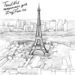Париж картинки рисованные — 35 рисунков