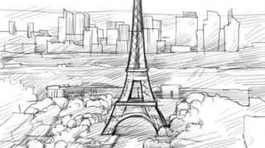 Париж картинки рисованные   35 рисунков (27)