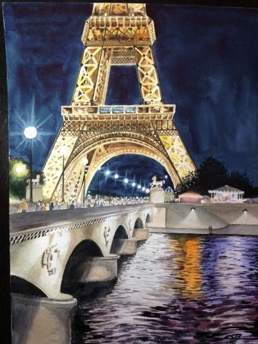 Париж картинки рисованные - 35 рисунков (28)