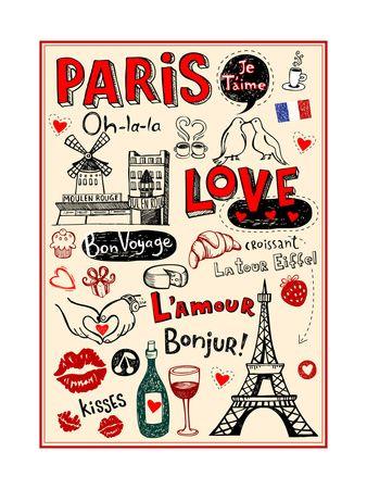 Париж картинки рисованные - 35 рисунков (29)