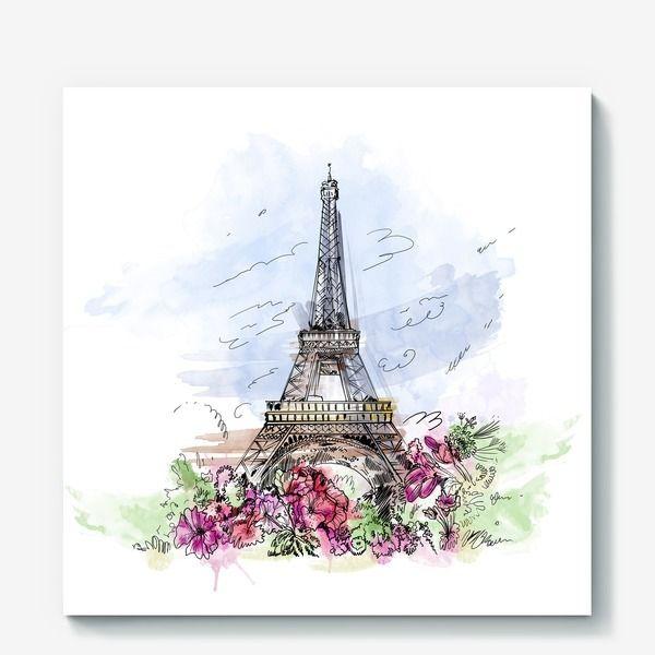 Париж картинки рисованные - 35 рисунков (30)