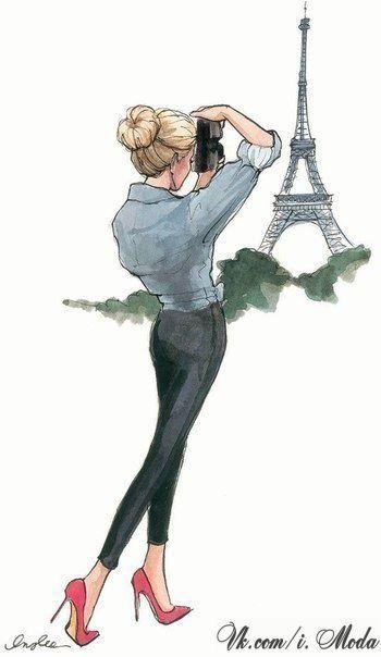 Париж картинки рисованные - 35 рисунков (33)