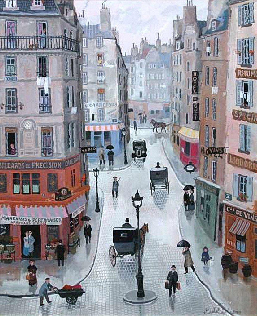Париж картинки рисованные - 35 рисунков (4)