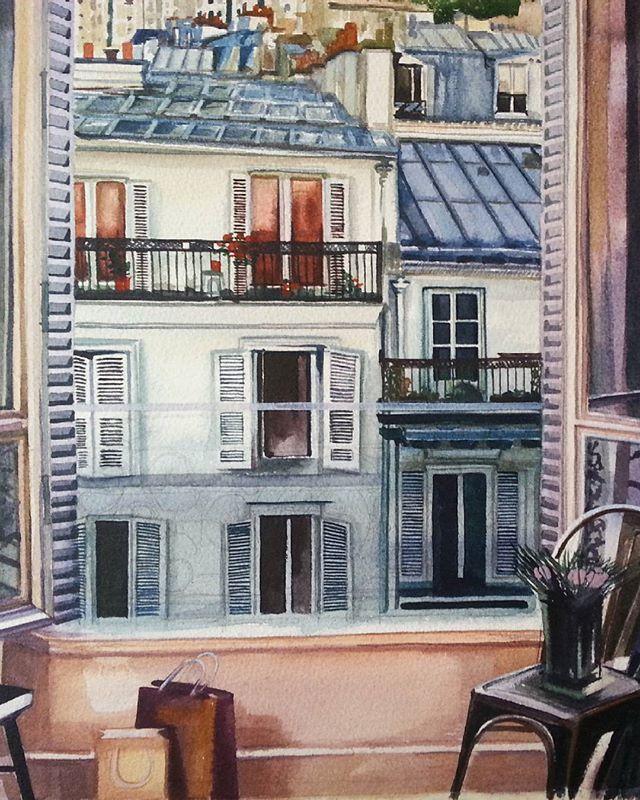 Париж картинки рисованные - 35 рисунков (8)