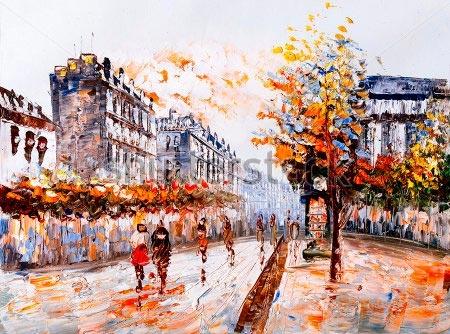 Париж рисованные картинки003