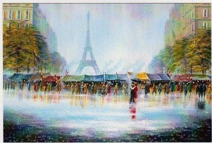 Париж рисованные картинки007