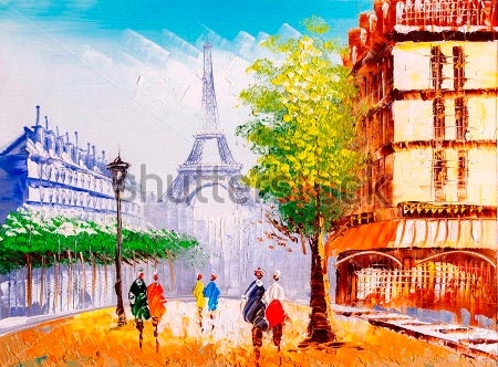 Париж рисованные картинки009