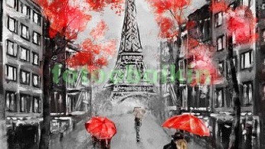 Париж рисованные картинки018