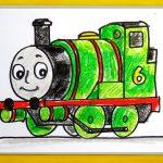 Паровозик рисунок Томас — подборка