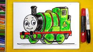 Паровозик рисунок Томас009