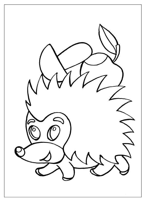 Пенек с грибами раскраска для детей004