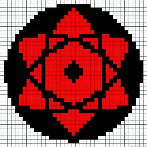 Пиксель арт шаринган011