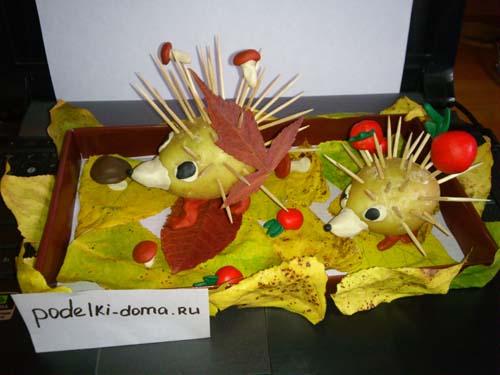 Поделки из овощей для школы 4 класс - фото самые красивые (14)