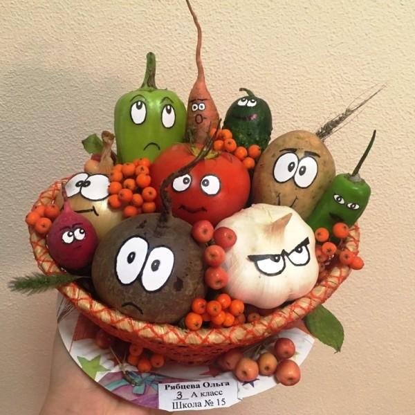 Поделки из овощей для школы 4 класс - фото самые красивые (3)