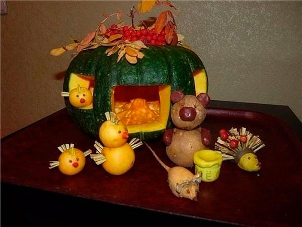 Поделки из овощей для школы 4 класс - фото самые красивые (32)