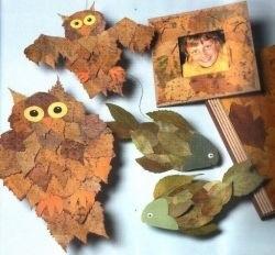 Поделки совы из листьев017
