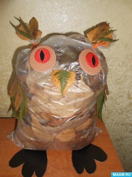 Поделки совы из листьев021