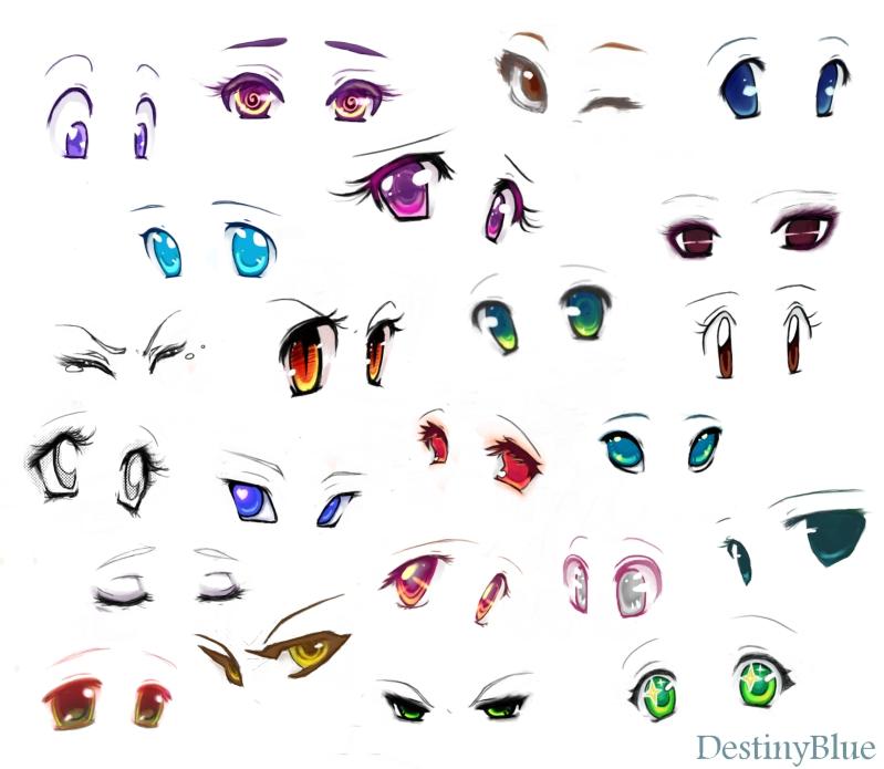 Подробные туториалы аниме глаз (12)