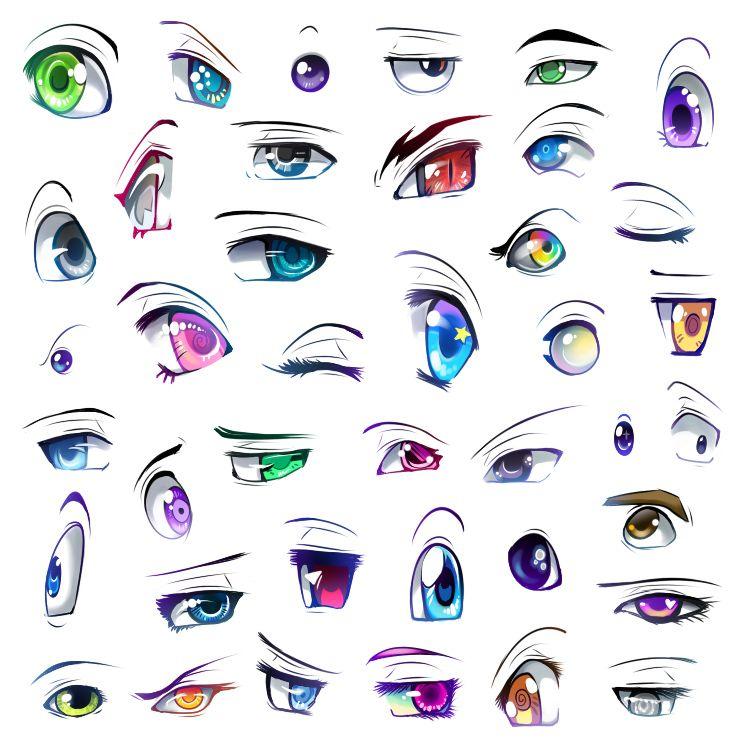 Подробные туториалы аниме глаз (13)