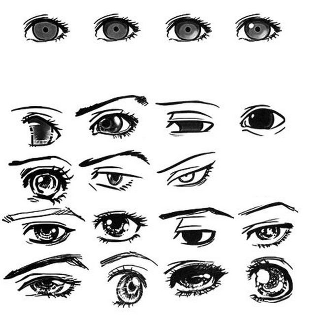 Подробные туториалы аниме глаз (14)