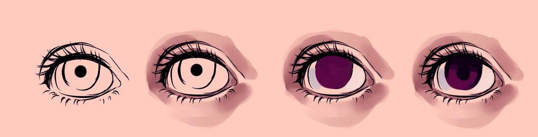 Подробные туториалы аниме глаз (16)