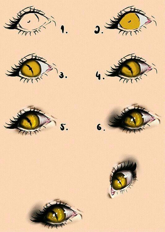 Подробные туториалы аниме глаз (17)