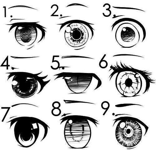 Подробные туториалы аниме глаз (19)