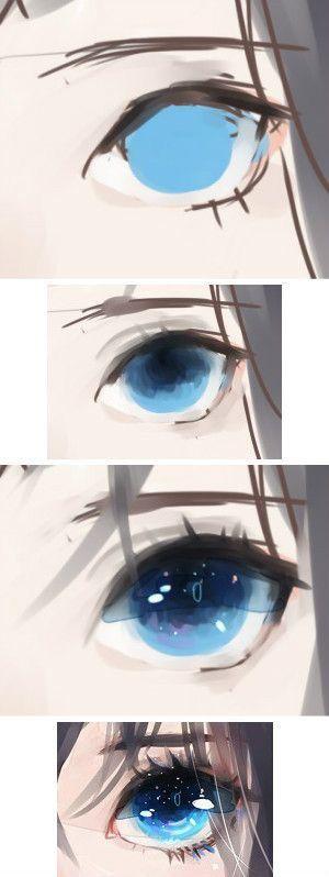 Подробные туториалы аниме глаз (2)