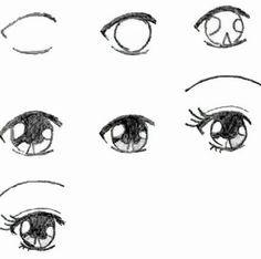 Подробные туториалы аниме глаз (8)